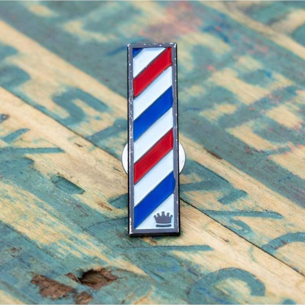 Брошка Bona Fide Barber Pole Pin