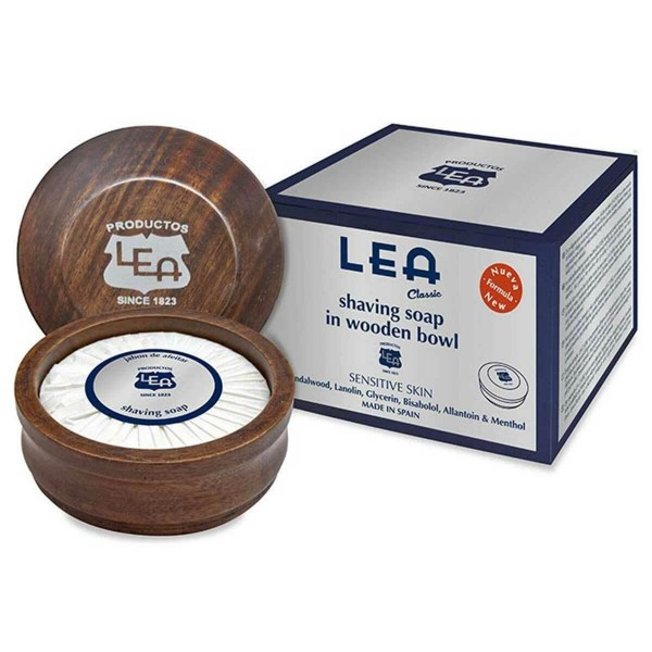 Мило для гоління в чаші з дерева LEA Classic Shaving Soap in Wooden Bowl 100г