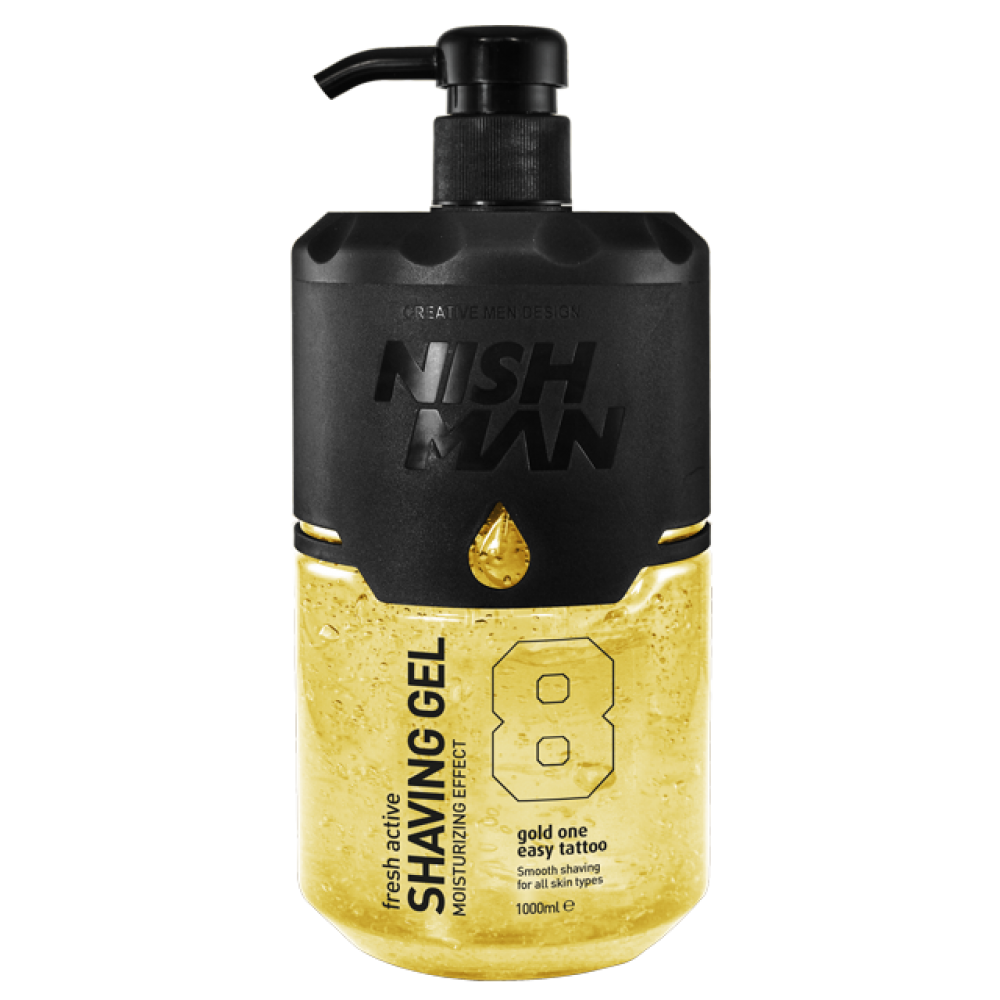 Гель для гоління Nishman Shaving Gel Gold One №8 1000мл