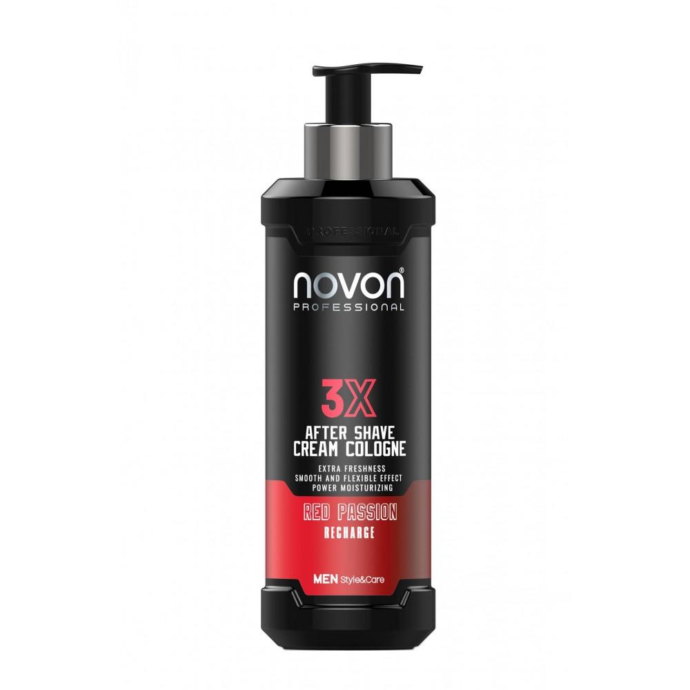 Крем після гоління Novon 3X Aftershave Cream Cologne - Red Passion 400 мл