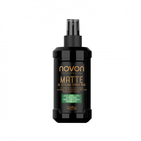 Спрей для укладання волосся Novon Professional Matte Re-Styling Spray Wax 200ml