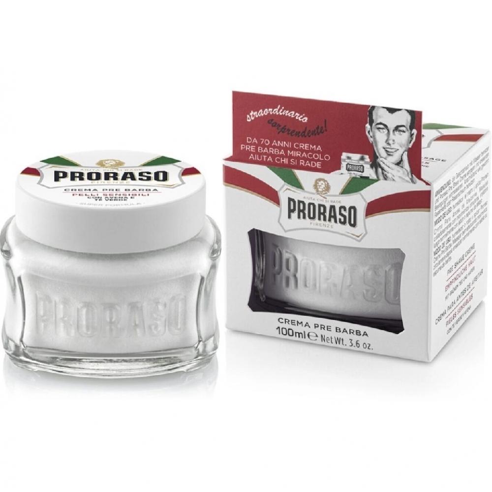 Крем пре-шейв до гоління Proraso Sensitive Green Tea 100мл
