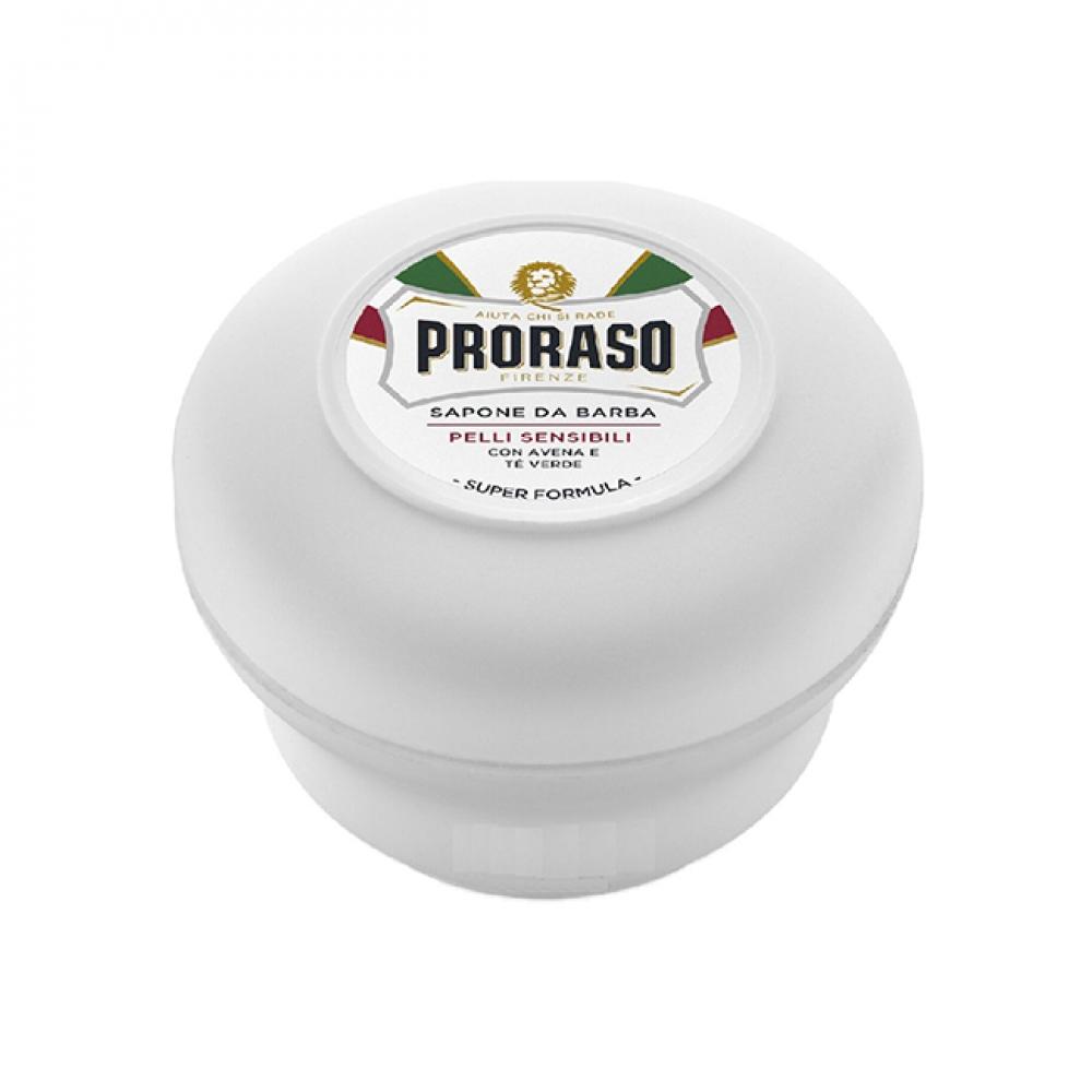 Мило для гоління - Proraso Sensitive Green Tea Shaving Soap Jar Зелений чай і овес 150 мл