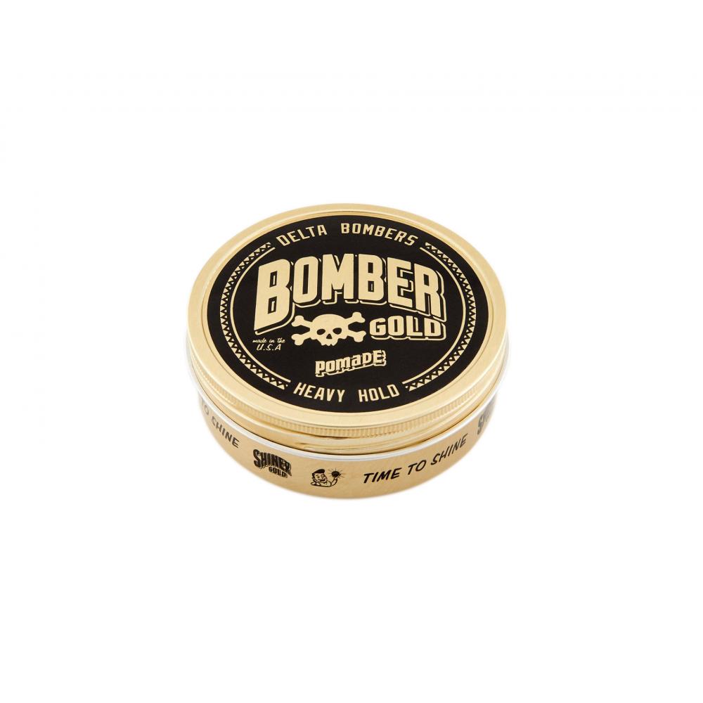 Помада для укладання волосся Shiner Gold Heavy Hold Bomber Gold Pomade 112мл