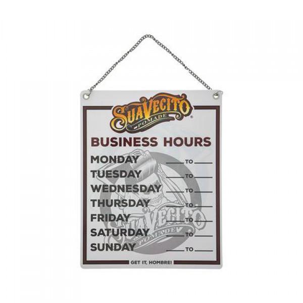 Табличка Suavecito Business Hours Door Sign