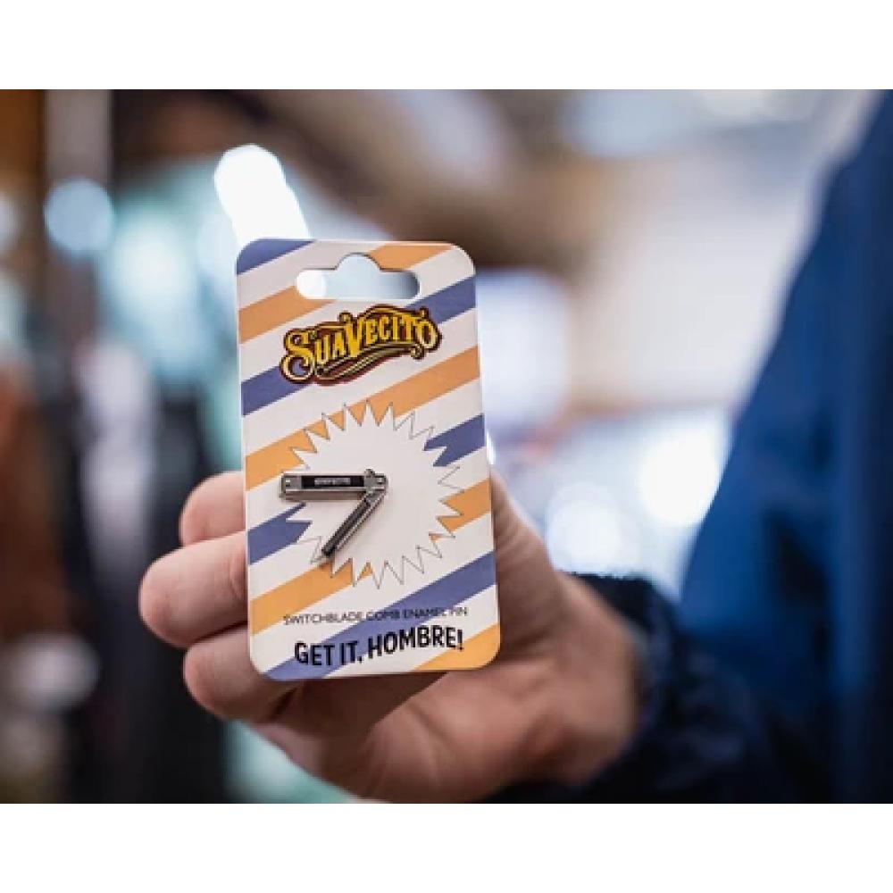 Брошка Suavecito Switchblade Comb Enamel Pin