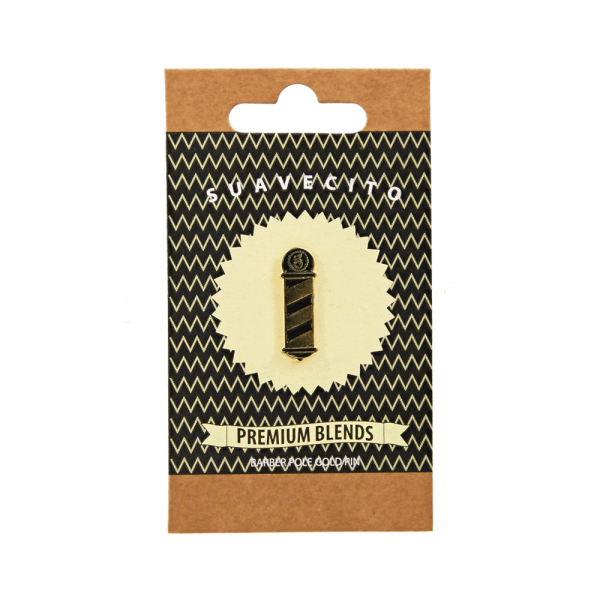 Брошка Suavecito Gold Barberpole Pin