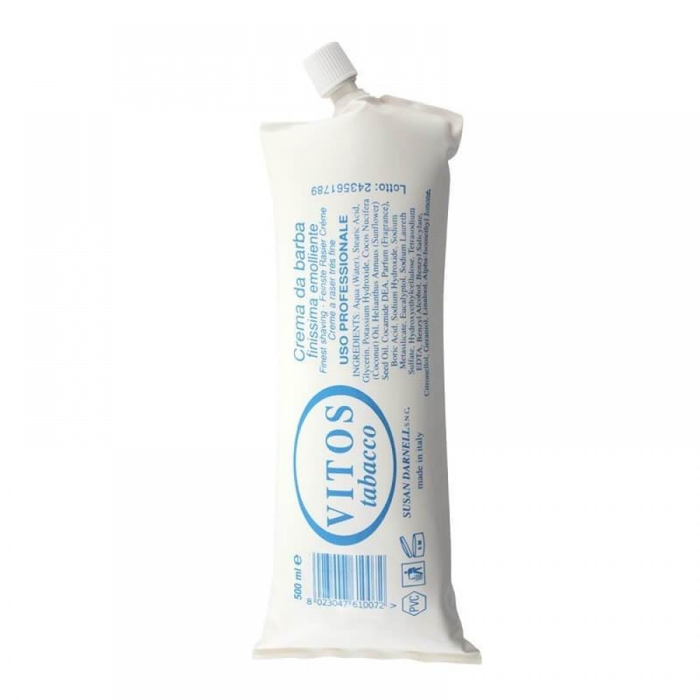 Крем для гоління Vitos TOBACCO Shaving Cream 500мл
